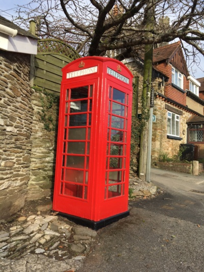 Phone Box with Completed Renovation